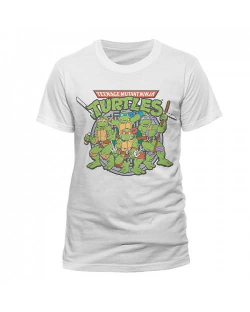 OFFICIAL TEENAGE MUTANT NINJA TURTLES SYMBOL WHITE T-SHIRT