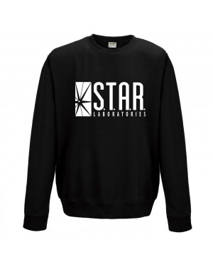 OFFICIAL THE FLASH (TV) STAR LABS LOGO CREWNECK SWEATER JUMPER