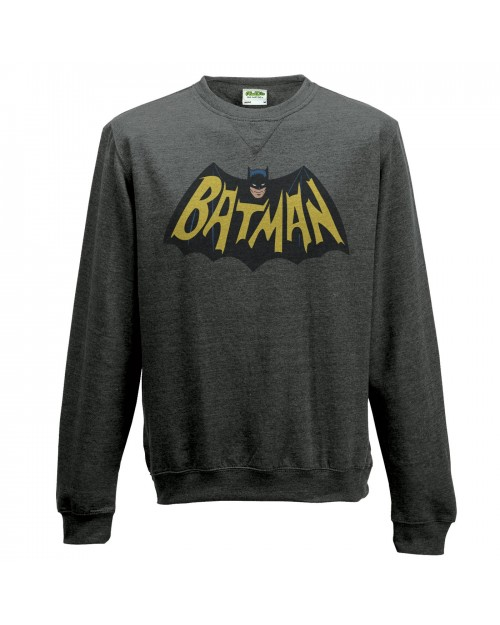 OFFICIAL DC COMICS BATMAN 1966 BAT SYMBOL CREWNECK SWEATER JUMPER
