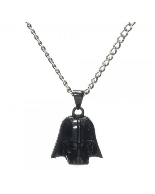 OFFICIAL STAR WARS DARTH VADER FACE BLACK PENDANT ON NECKLACE