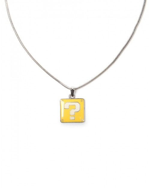 OFFICIAL NINTENDO'S SUPER MARIO BRO'S QUESTION MARK BLOCK PENDANT ON NECKLACE