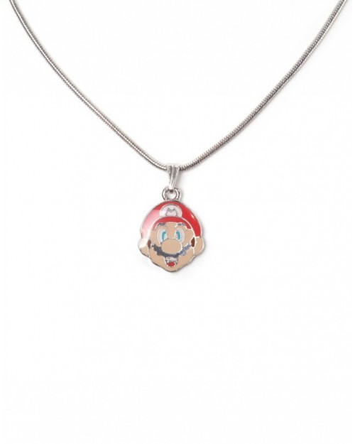 OFFICIAL NINTENDO'S SUPER MARIO BRO'S MAIO FACE PENDANT ON NECKLACE