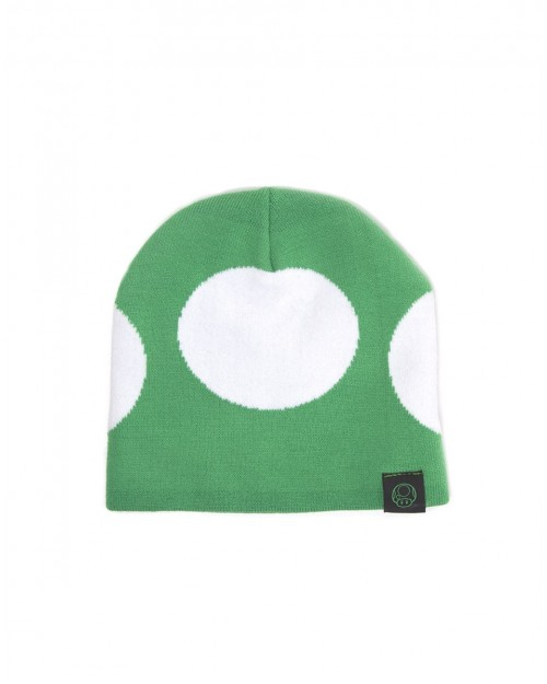 OFFICIAL NINTENDO'S SUPER MARIO BRO'S 1-UP MUSHROOM COSTUME BEANIE HAT