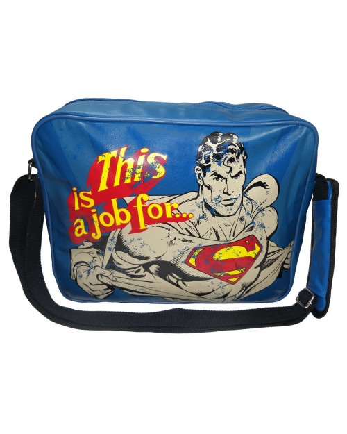 'THIS IS A JOB FOR..' SUPERMAN MESSENGER BAG