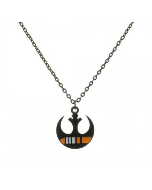 OFFICIAL STAR WARS BLACK SQUADRON REBEL ALLIANCE SYMBOL PENDANT ON NECKLACE