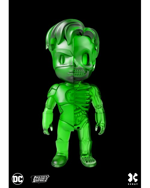 XXRAY x DC COMICS - GREEN LANTERN DISSECTED VINYL ART FIGURE (10cm) *CLEAR GREEN EDITION*