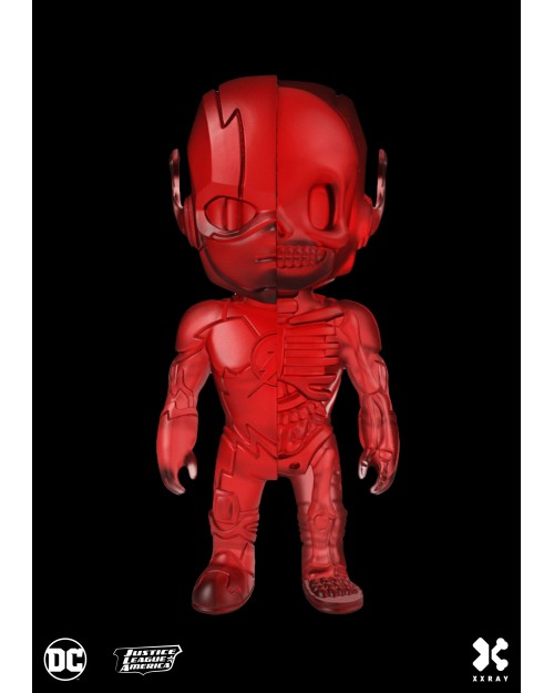 XXRAY x DC COMICS - THE FLASH DISSECTED VINYL ART FIGURE (10cm) *CLEAR RED EDITION*