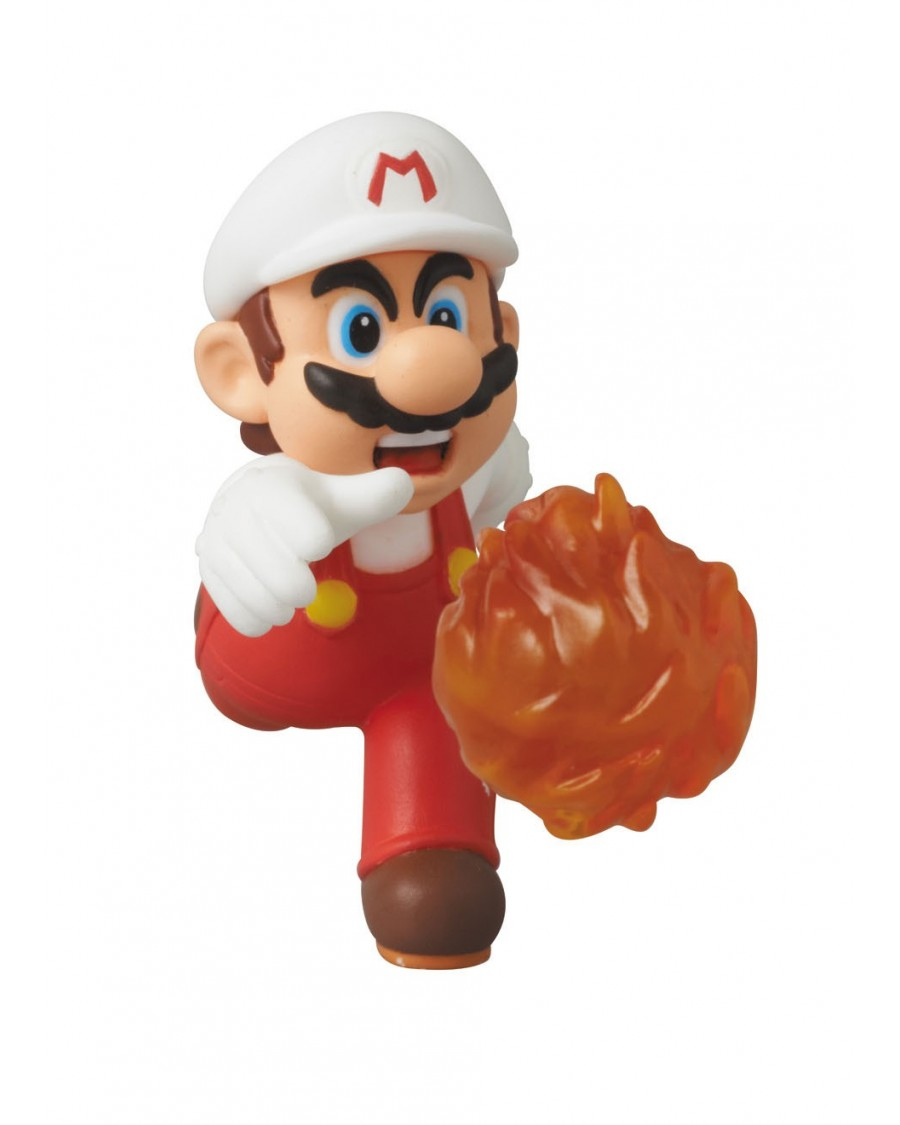 MEDICOM x NINTENDO - NEW SUPER MARIO BROS. U FIRE MARIO UDF MINI FIGURE (6 cm)