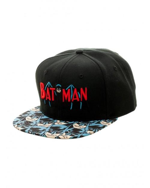 OFFICIAL DC COMICS BATMAN RETRO SYMBOL SNAPBACK CAP WITH PRINTED VISOR