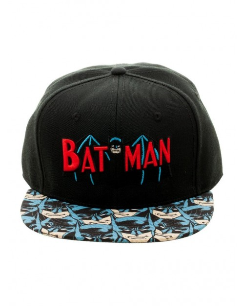 OFFICIAL DC COMICS BATMAN RETRO SYMBOL SNAPBACK CAP WITH PRINTED VISOR