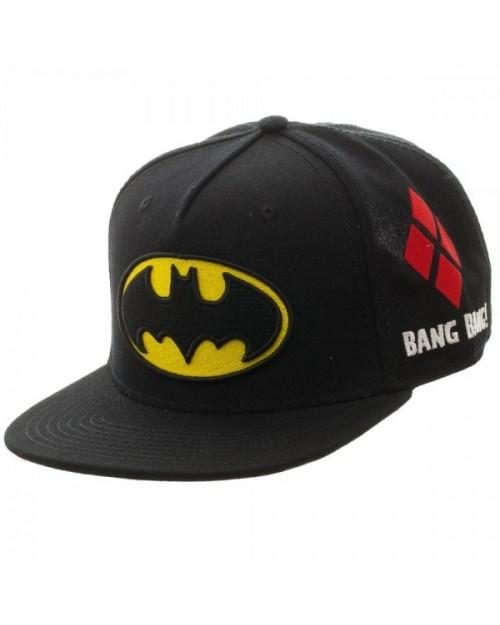 OFFICIAL DC COMICS BATMAN FRIENDS AND FOES SYMBOLS BLACK SNAPBACK CAP
