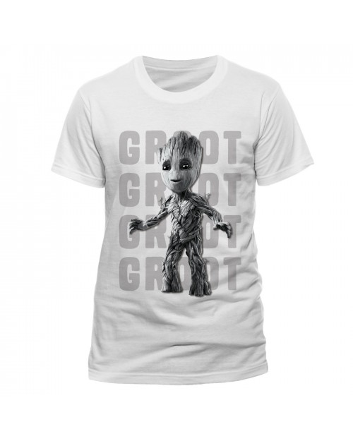 OFFICIAL GUARDIANS OF THE GALAXY 2 - GROOT PHOTO WHITE T-SHIRT