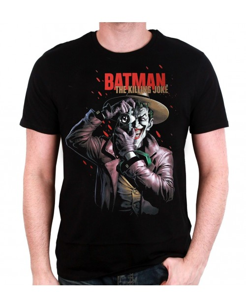 OFFICIAL DC COMICS BATMAN: THE KILLING JOKE COMIC COVER BLACK T-SHIRT