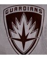 OFFICIAL MARVEL COMICS GUARDIANS OF THE GALAXY CREST SYMBOL DISTRESSED GREY T-SHIRT