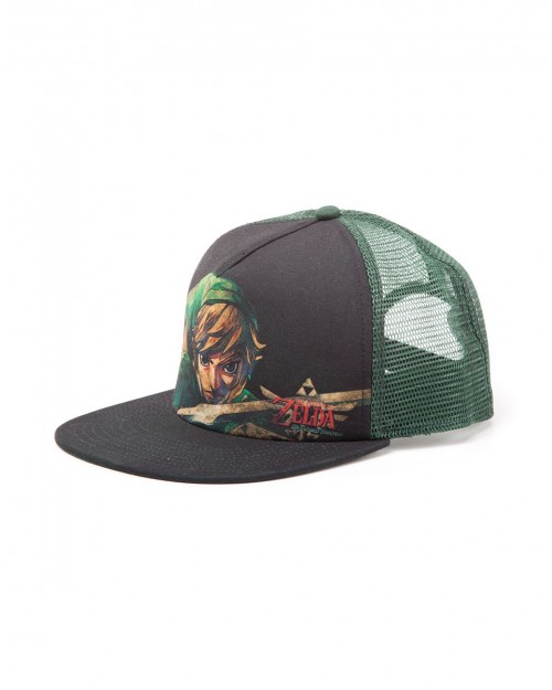 OFFICIAL NINTENDO - THE LEGEND OF ZELDA LINK TRUCKER SNAPBACK CAP