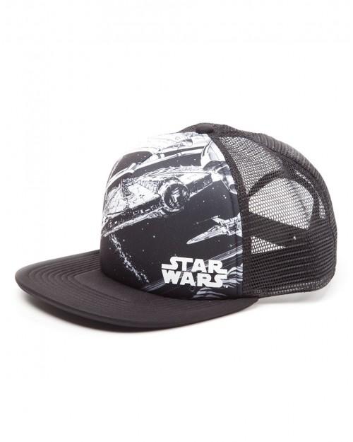 OFFICIAL STAR WARS - MILLENNIUM FALCON TRUCKER STYLED SNAPBACK CAP