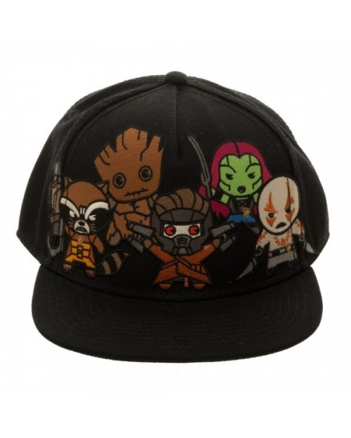 MARVEL COMICS GUARDIANS OF THE GALAXY KAWAII CARTOON SNAPBACK CAP
