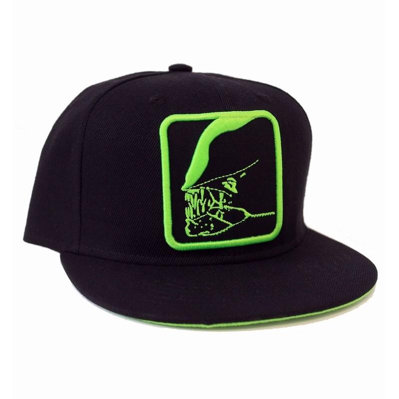 d54091812f5 OFFICIAL ALIEN - GREEN JAW OUTLINE BLACK SNAPBACK CAP - Spike Dabomb