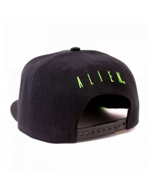 OFFICIAL ALIEN - GREEN JAW OUTLINE BLACK SNAPBACK CAP
