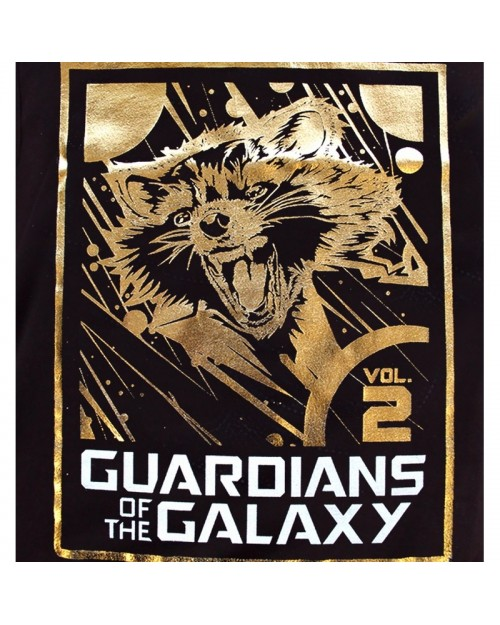 OFFICIAL GUARDIANS OF THE GALAXY VOL. 2 - ROCKET RACCOON GOLD FOIL PRINT VEST