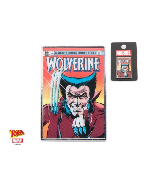 OFFICIAL MARVEL COMICS - X-MEN WOLVERINE COMIC BOOK COVER METAL PIN BADGE