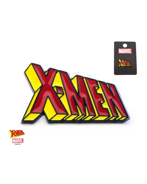 OFFICIAL MARVEL COMICS - X-MEN TEXT SYMBOL METAL ENAMEL PIN BADGE