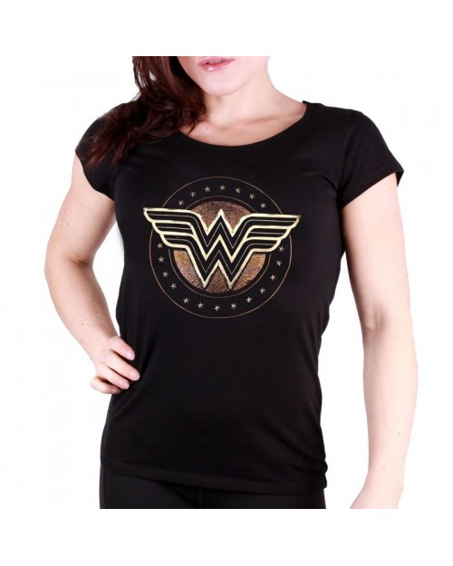 OFFICIAL DC COMICS - WONDER WOMAN (THE MOVIE) SYMBOL BLACK T-SHIRT