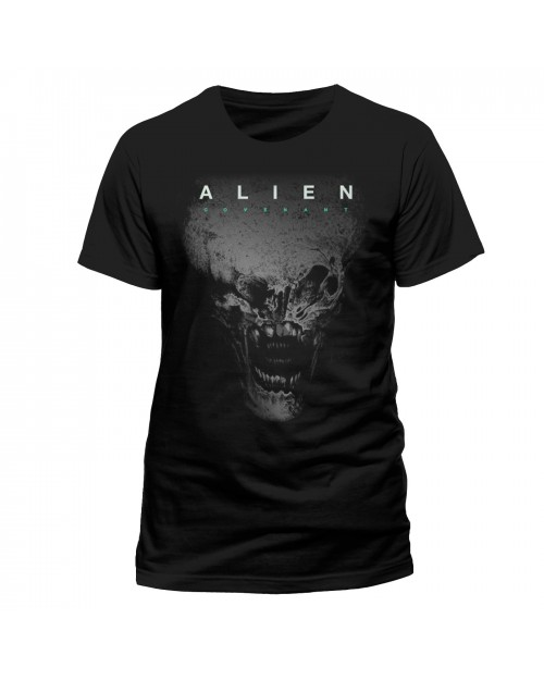 OFFICIAL ALIEN COVENANT - HEAD PRINTED BLACK T-SHIRT