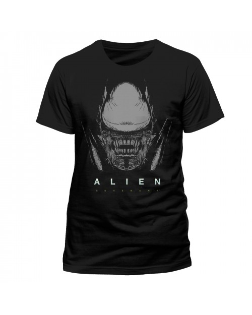 OFFICIAL ALIEN COVENANT - XENOMORPH PRINTED BLACK T-SHIRT