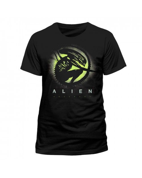 OFFICIAL ALIEN COVENANT - XENOMORPH SILHOUETTE PRINTED BLACK T-SHIRT