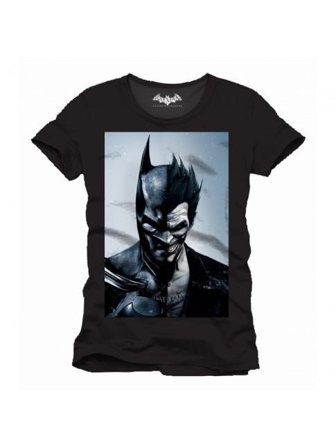 DC COMICS BATMAN VS THE JOKER: ARKHAM ORIGINS BLACK T-SHIRT