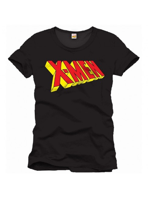 OFFICIAL MARVEL COMICS: X-MEN 3D TEXT LOGO BLACK T-SHIRT