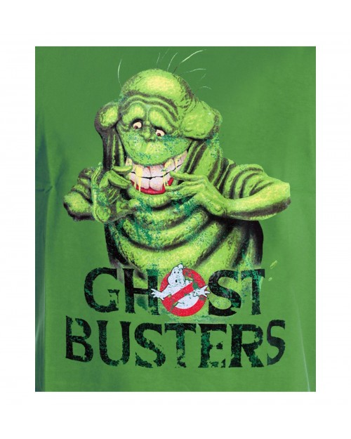 OFFICIAL GHOSTBUSTERS SLIMER GREEN T-SHIRT