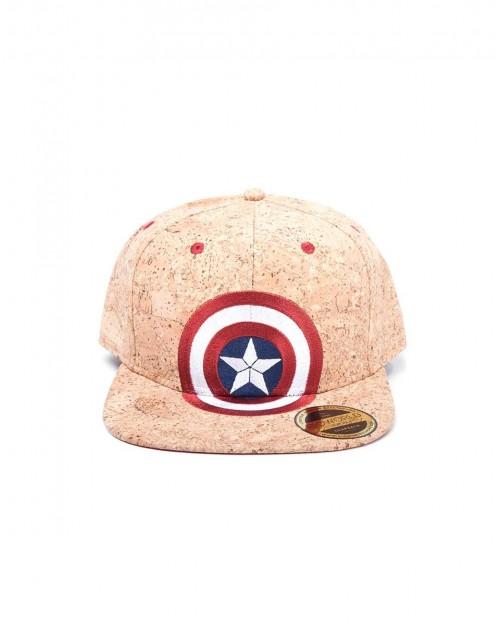 OFFICIAL MARVEL COMICS - CAPTAIN AMERICA SHELD CORK SNAPBACK CAP