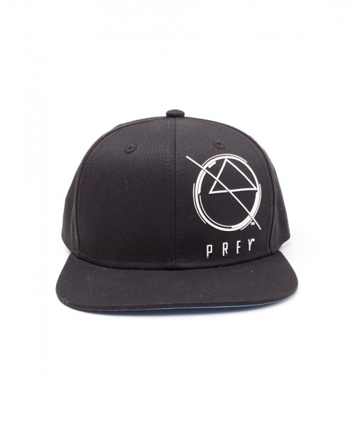 OFFICIAL PREY LOGO/ SYMBOL BLACK SNAPBACK CAP WITH PRINTED VISOR