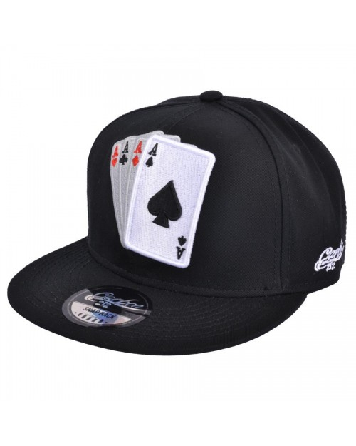 CARBON 212 ACE OF SPADES PRINTED SNAPBACK CAP
