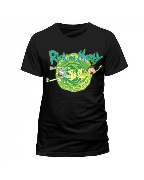OFFICIAL RICK & MORTY - PORTAL BLACK T-SHIRT