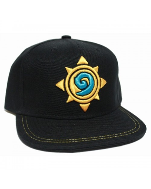 OFFICIAL HEARTHSTONE LOGO/ SYMBOL STITCHED BLACK SNAPBACK CAP