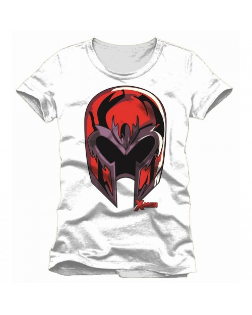 OFFICIAL MARVEL COMICS: X-MEN - MAGNETO'S HELMET WHITE T-SHIRT