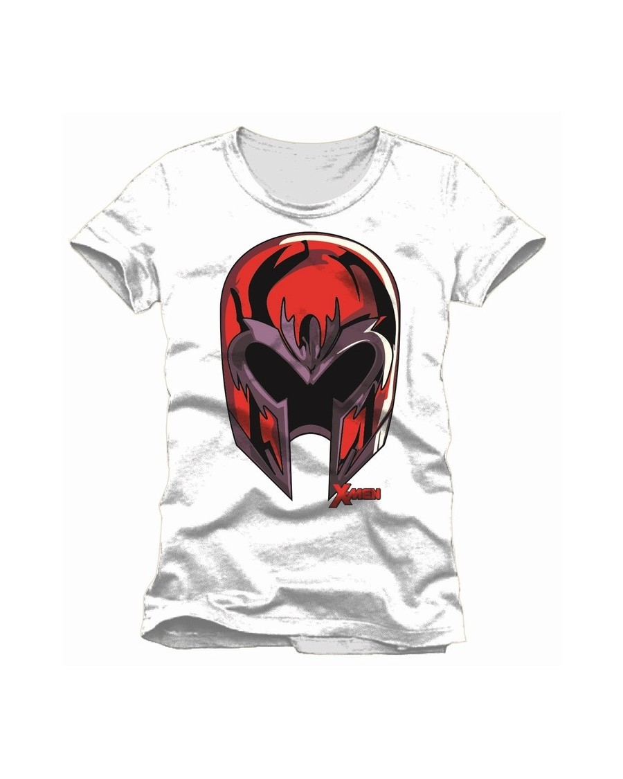 f4d9e5b8 OFFICIAL MARVEL COMICS: X-MEN - MAGNETO'S HELMET WHITE T-SHIRT ...