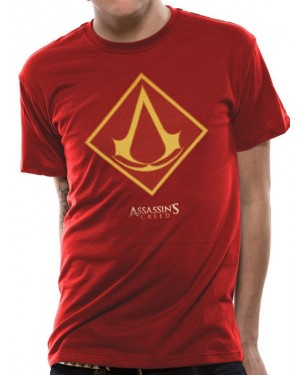 OFFICIAL ASSASSIN'S CREED MOVIE LOGO RED T-SHIRT