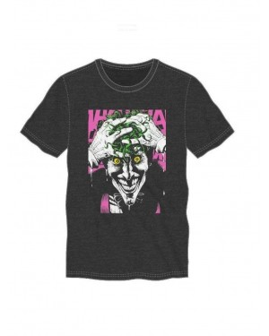 OFFICIAL DC COMICS - THE JOKER 'HAHAHA' CARTOON BLACK T-SHIRT