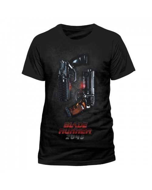 OFFICIAL BLADE RUNNER 2049 - TWO PISTOLS BLACK T-SHIRT