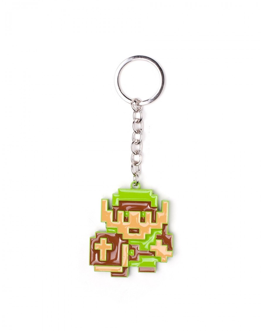NINTENDO'S THE LEGEND OF ZELDA - 8BIT LINK HEAVY METAL KEYRING