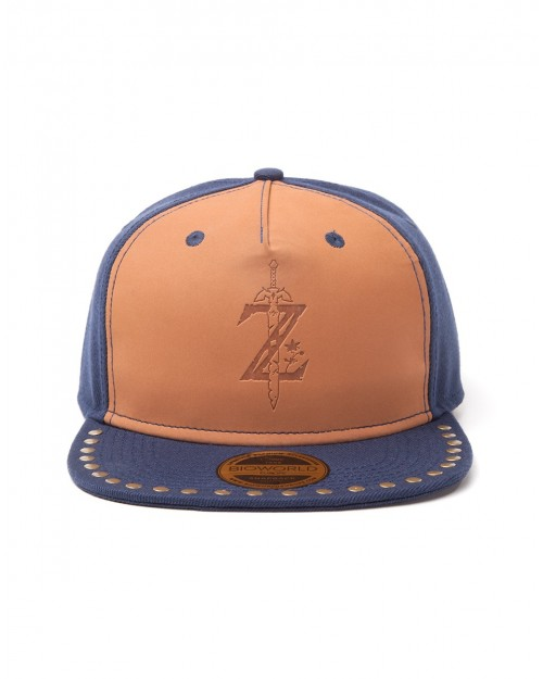 OFFICIAL NINTENDO'S THE LEGEND OF ZELDA: BREATH OF THE WILD LEATHER STYLED DEBOSSED 'Z' SYMBOLS NAPBACK CAP