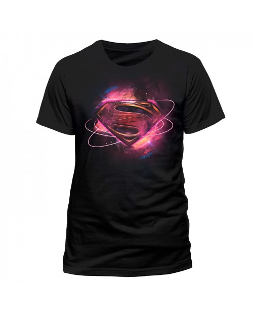 OFFICIAL DC COMICS JUSTICE LEAGUE - MAN OF STEEL (SUPERMAN) SYMBOL BLACK T-SHIRT