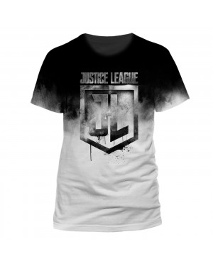 OFFICIAL DC COMICS JUSTICE LEAGUE SYMBOL SUBLIMATION PRINT WHITE T-SHIRT