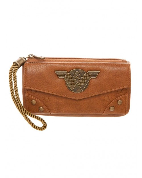 OFFICIAL DC COMICS - WONDER WOMAN MOVIE METAL SYMBOL VINTAGE STYLED PURSE/ WALLET
