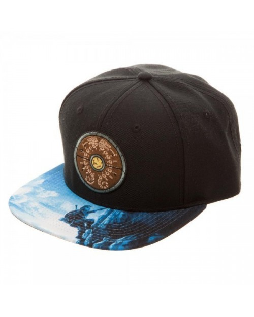 OFFICIAL NINTENDO - THE LEGEND OF ZELDA: BREATH OF THE WILD SHIELD BLACK SNAPBACK CAP WITH PRINTED VISOR
