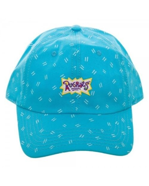 OFFICIAL RUGRATS LOGO BLUE PATTERN BASEBALL 'DAD' CAP